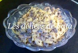 tagliatelles champi